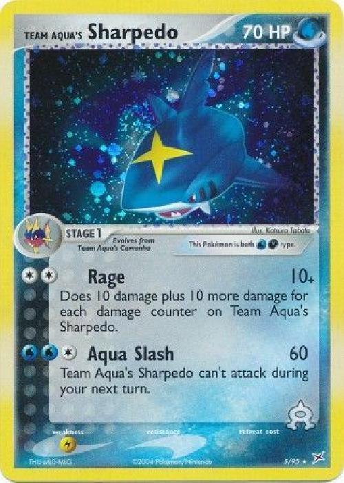 Team Aqua's Sharpedo  - 5/95 - Holo Rare NM Magma vs. Aqua Pokemon