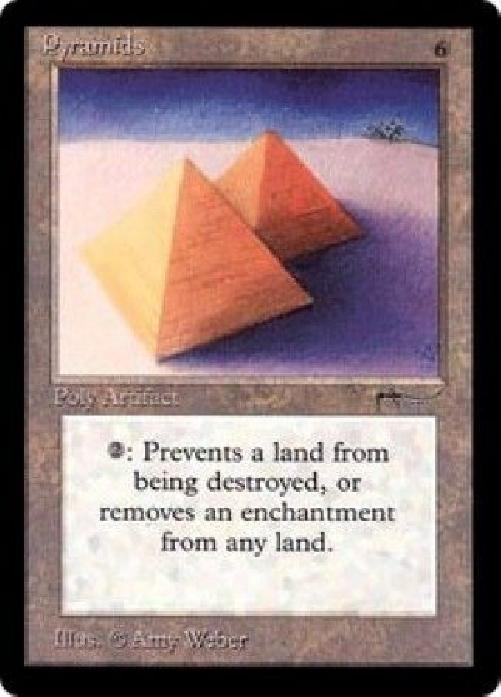 Pyramids NM MTG Arabian Nights Magic Gathering